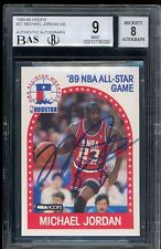 1989 Hoops Michael Jordan Signed #21 All-Star Game #21 AUTO BGS 9 Authentic