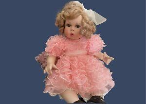"Marie Osmond Porcelain Doll ""Peaches & Cream"" Vintage Adorable!! (14"" seated)"