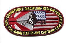 VAQ-136 GAUNTLETS PLANE CAPTAIN US Navy EA-6B PROWLER Squadron Jacket Patch