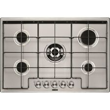 Zanussi ZGH75524XX 75cm Five Burner Gas Hob With Enamel Pan Stands -  ZGH75524XX