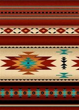 Tucson Southwest Native American Terracotta Stripe Cotton Fabric by the Yard