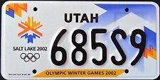 "UTAH "" OLYMPIC GAMES 2002 - SLC - SPORT "" UT Specialty License Plate"
