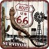 Nostalgic Art Metalluntersetzer Route 66 Survivor Abenteuer 9 x 9
