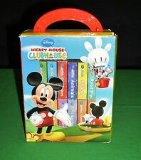 Disney Mickey Mouse Clubhouse Set of 12 Mini Board Story Books Set w/Carry Case