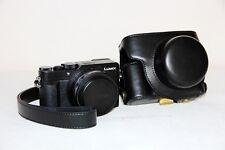 leather camera case bag for Panasonic LUMIX LX100 LEICA DC LENS black silver
