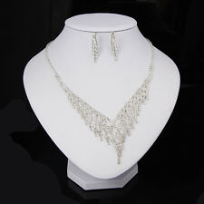 Bridal Wedding Jewelry Sets European Style Crystal Necklace Earring Set
