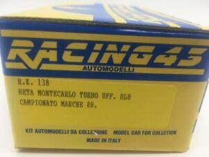 Lancia Beta Monte Turbo Camp. Marche 1980 Kit RACING 43 1:43 RGRK138