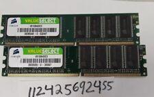 2GB KIT 2X 1GB DDR1 PC3200 DDR1-400MHZ  400 184PIN  DIMM UNBUFFERED NON-ECC RAM