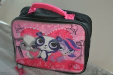 Littlest Pet Shop LPS Pink Black Insulated Kids School Lunch Box Bag Sweet Sassy