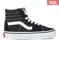 Vans Sk 8 Hi For Kids Black White New In Box Size 11 to 4 100% Original