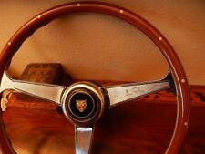 "Jaguar XJ12 1968 - 1974 Wood Steering Wheel Nardi 15"" NOS Engraved FLAWLESS"