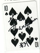 TONY BENJAMIN SEATTLE SEAHAWKS AUTOGRAPHED PLAYING CARD