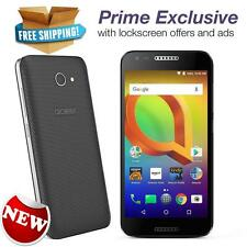 Alcatel A30 GSM 16 GB Black Unlocked Prime Exclusive with Lockscreen Offers Ads