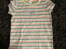 GYMBOREE SIZE 9 YEARS STRIPED SHIRT EUC RHINESTONE FLOWER TOP PERFECT! TEE BTS