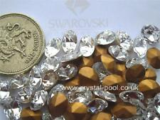 12 x 8 mm x 6 mm SWAROVSKI CRYSTAL gold-foiled # 4130/2 ovales