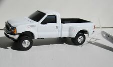 ERTL WHITE FORD F-350 SUPER DUTY DUALLY 5TH WHEEL PICKUP w/TRAILER HITCH rr