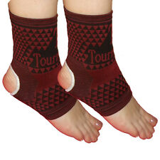 Healing Tourmaline Magnetic Microfibre Ankle Pads - Ease  Foot Pain