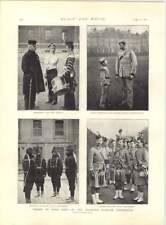 Artillería canadiense 1897 con raquetas participar procesión Jubileo de Diamante