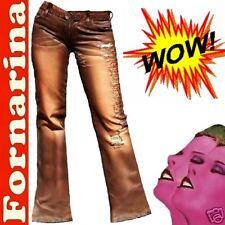 Fornarina rock star Attitude Cuero Pantalones Vaqueros g. 26/34