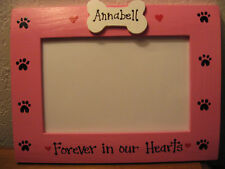 MEMORY DOG - FOREVER IN OUR HEARTS custom personalized pet photo picture frame