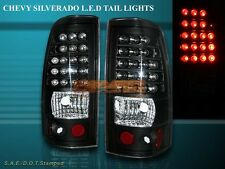 2003-2006 CHEVY SILVERADO 2004-2006 GMC SIERRA 1500 2500 BLACK TAIL LIGHTS LED
