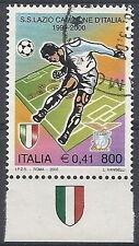 2000 ITALIA USATO LAZIO CAMPIONE D'ITALIA DI CALCIO APPENDICE SCUDETTO IN BASSO