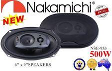 "Nakamichi NSE953 6""x9"" 500W Peak 3-WAY FULL RANGE COAXIAL SPEAKER CAR W/ GRILLES"