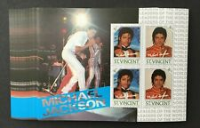 Saint Vincent 1985 Michael Jackson Souvenir Sheet of 4 Stamps MNH OG