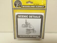 Motorcycles Sidecar Model Railroad Building kit Woodland Scenics D228 Mini-Scene
