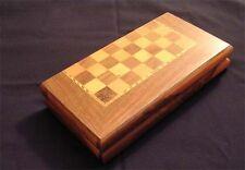 Persian Backgammon Set Sanandaji Walnut with Maple Inlay 2040