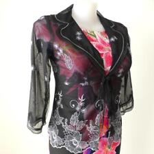 ANTHEA CRAWFORD 3/4 Sleeve Organza and Silk Embroidered Jacket Size 14 - 16