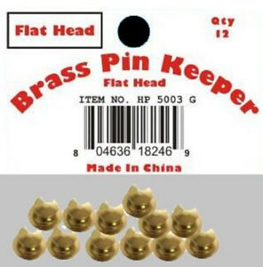 (12 Pieces) Pin Keepers backs Locks Locking (Flat Head Gold)