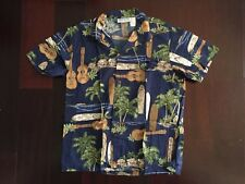 Boys Bishop St. Apparel Hawaiian Surfboard Made USA Casual Dress Shirt Size 16