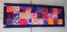 AF0661 Handmade REAL BATIKS PATCHWORK BED TABLE QUILT RUNNER unfinished 43 x 15