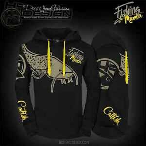 Hotspot Design Hoodie Fishing Mania Catfishing, Angel-Sweater, Angler-Pullover