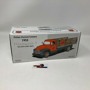 #3472  First Gear Phillips 66 1955 Diamond T Stake Truck 1/34 Scale * JD5