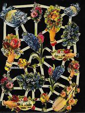 # GLANZBILDER # Bogen aus Holland 9 , nostalgische Blumen - Motive mit Glimmer