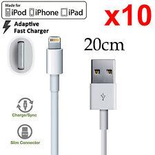 10 Apple iPhone 5 6 7 8 PLUS SE X iPad mini Air Pro iPod fast data charger cable