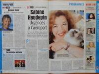 SABINE HAUDEPIN / NICOLAS HULOT Coupure de presse 1999 – French Clippings