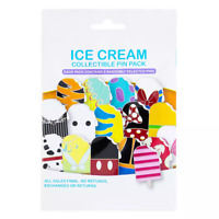 Disney Parks Mickey Ice Cream Bar Popsicle Mystery 5 Pc Pin Pack Bag - NEW