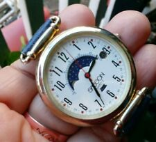 """SASSON Moon Phase blue leather band  watch 9 """" Date indicator"""