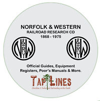NORFOLK & WESTERN - GUIDES & REGISTERS & HISTORICAL RESEARCH SCANNED TO DVD