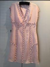 Moschino - Classic Summer Day Dress Silk V Neck Sleeveless UK12 EU42 Lined Pink