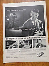 1959 Bristol-Myers Ad   Bufferin  Why Trade Headache for an Upset Stomach?