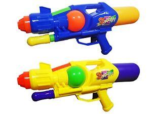 "2x 17"" Water Pistol Gun Kids Summer Toy Pump Action Super Soaker Blaster - New"