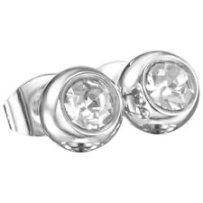 Magnet Ohrring Stecker Zirkonia groß silber, Ohrschmuck