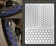 Inverse Hex Mesh Airbrush Stencil Texture Patern Schablonen Maskierung