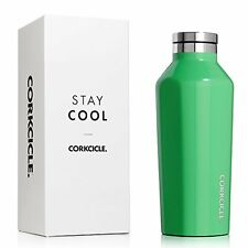 Corkcicle Triple Insulated Water Bottle and Thermos, 9 oz, Gloss Caribbean Green