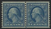 US Stamps - Sc# 496 - Joint Line Pair - Mint Never Hinged - MNH - XF     (R-381)
