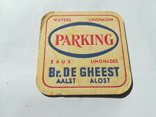 Alter Bierdeckel aus Belgien - PARKING - Brasserie DE GHEEST - Belgique - Belge